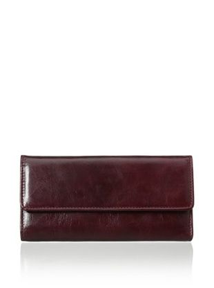 54% OFF Rowallan of Scotland Women's Violetta Tri-Fold Wallet, Burgundy