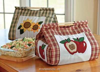 Country Apple  Sunflower Casserole Carrier Set