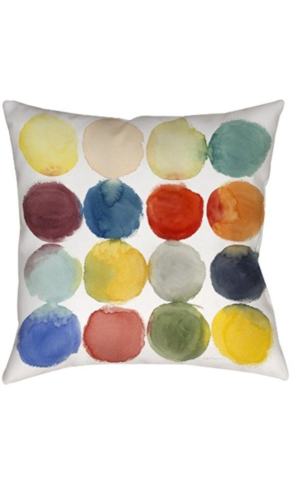 Thumbprintz Square Indoor/Outdoor Pillow, 20-Inch, Transference Best Price