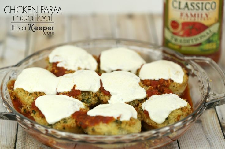 This Chicken Parmesan Meatloaf is one of my favorite healthy easy dinner recipes. It's quick, easy and tastes just like Chicken Parm. Get the recipe here.