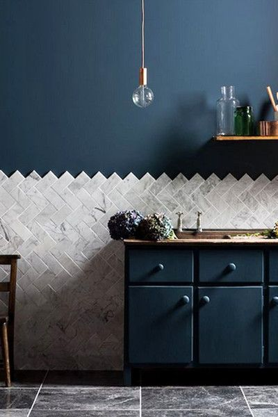 Cool Kitchen - 20 Ways To Add Indigo To Your Home - Photos