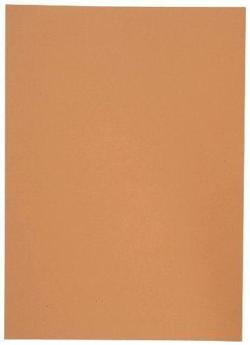 Elba 32450OG Aktendeckel, 250 g/qm Manila-Karton, für circa 100 DIN A4-Blätter, 100 Stück, orange