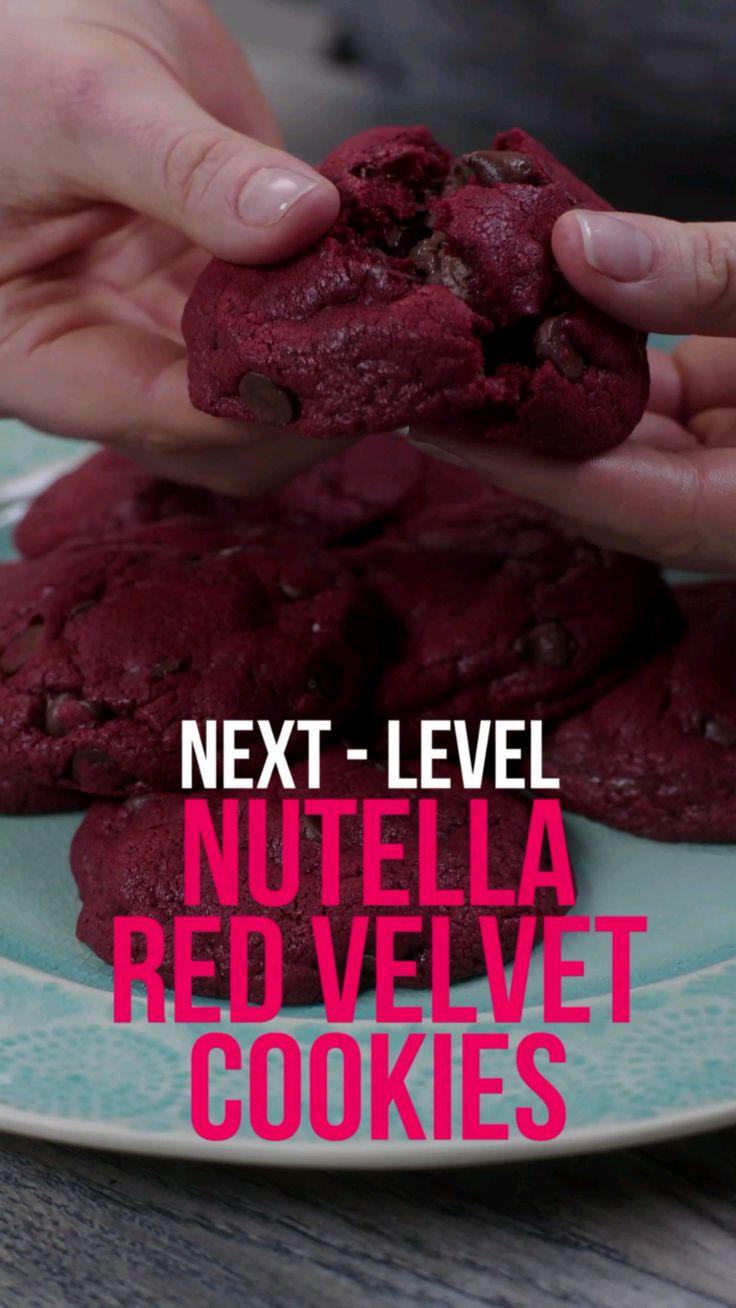 Next-Level: Nutella Red Velvet Cookies