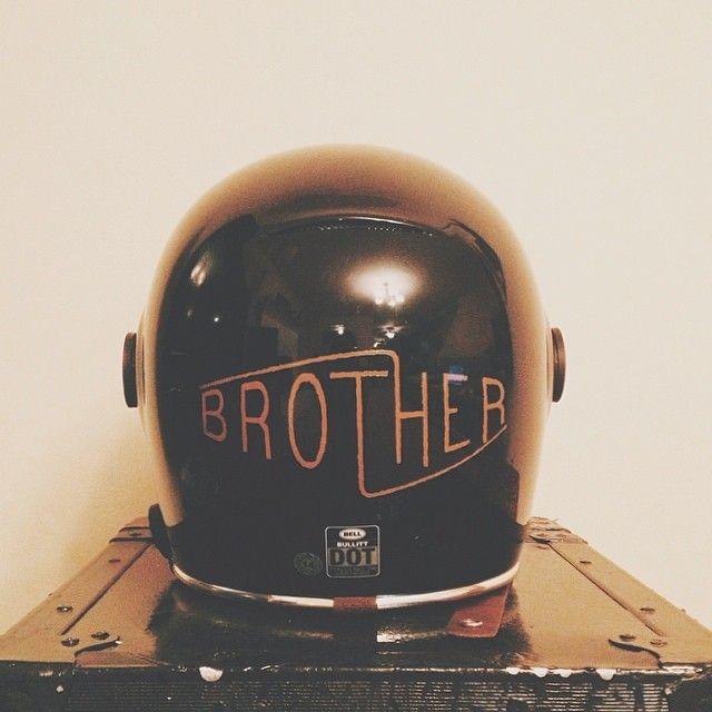 brothermoto:  Having fun with the new Bell Bullitt #bell #bullitt #helmet