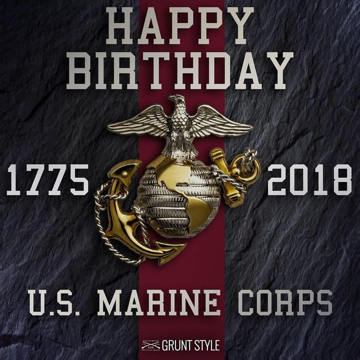 "Grunt Style on Instagram ""Happy birthday Marines!"