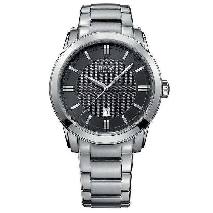 Black Dial Stainless Steel Bracelet Men's Watch