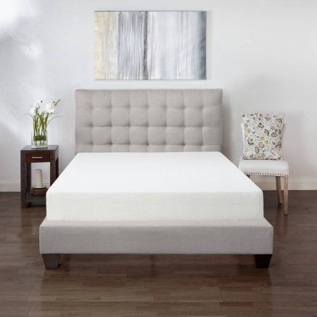 Classic 8 inch Ventilated Memory Foam Mattress, Cal King Size, Beige