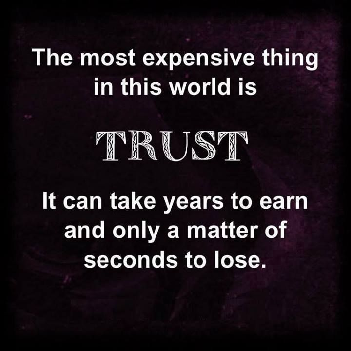 #Truth..  It's hard to trust somebody when the one person who you completely opened up to is the person who later completely betrayed you.