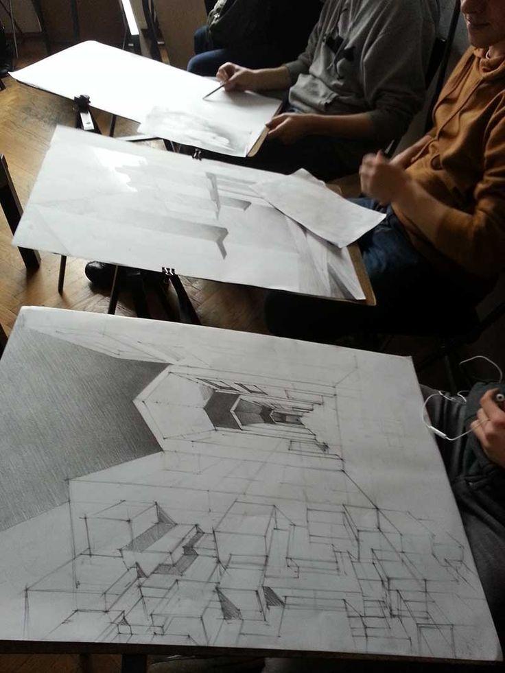 Rysunek w p racowni rysunku Elipsa Krowoderska 6/14 Kraków