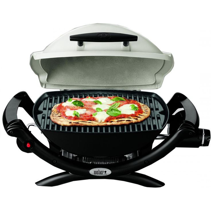 Weber Q 1000 Portable Propane Gas Grill - Shown With Food