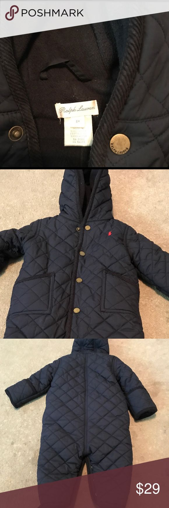 Polo snow suit 6 months great condition Polo by Ralph Lauren Jackets & Coats