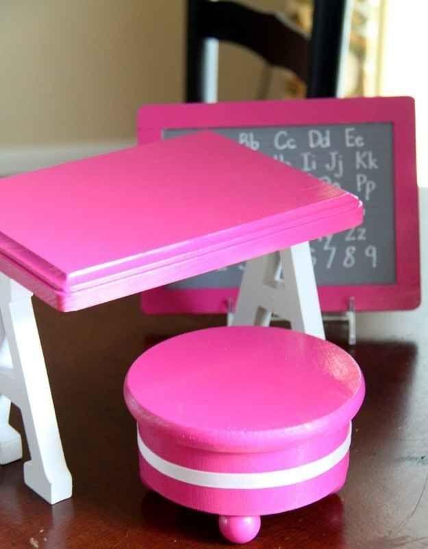 School Furniture | 39 American Girl Doll DIYs That Won't Break The Bank
