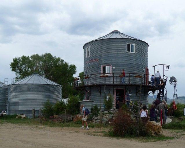architecture house design, grain bin house