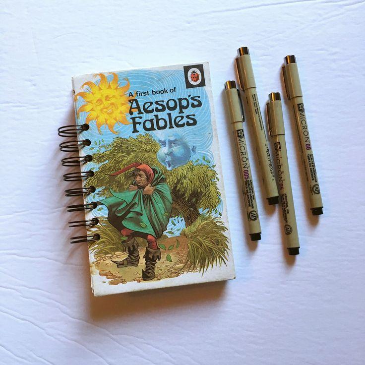Aesop's Fables vintage journal - art journal, junk journal, travel journal, smash book by BurkeSevenVintage on Etsy https://www.etsy.com/ca/listing/545503782/aesops-fables-vintage-journal-art