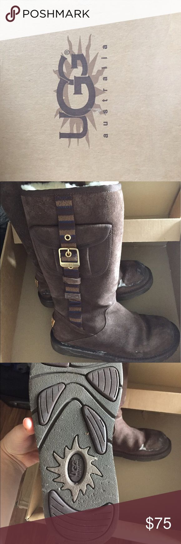 Ugg Boots! Awesome and warm Ugg Boots! I wore them for 2 seasons and I just don't reach for them anymore! They have a bit of salt on them, but nothing major. They have their original box. Size 7.  Normally wear a 7.5. UGG Shoes Winter & Rain Boots