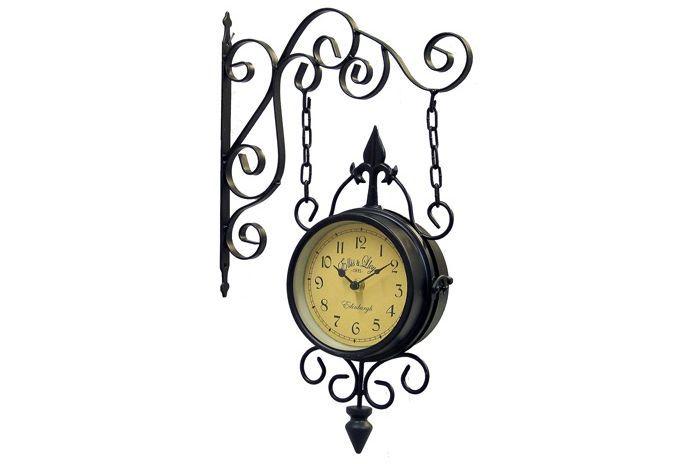 Ceas colonial metalic de perete cu lanturi Edinburgh