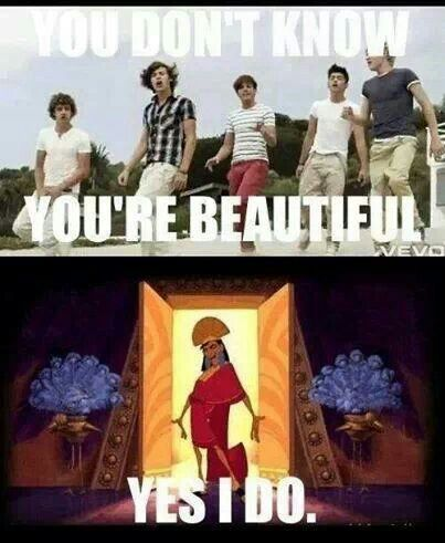 since I hate one direction and this is kinda dissing their song and i love that movie. imma post this.