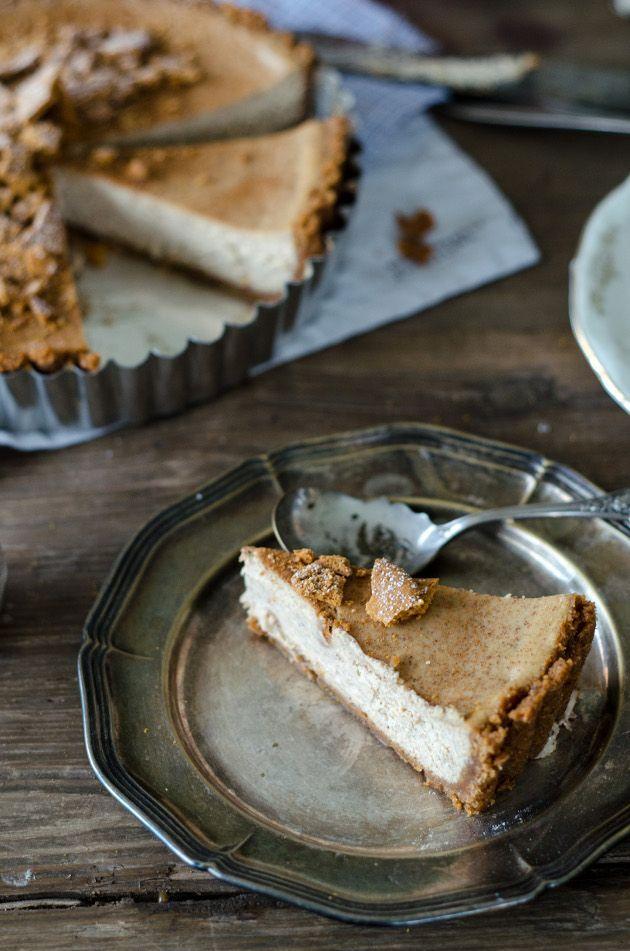 vanilla chai spiced cheesecake pie