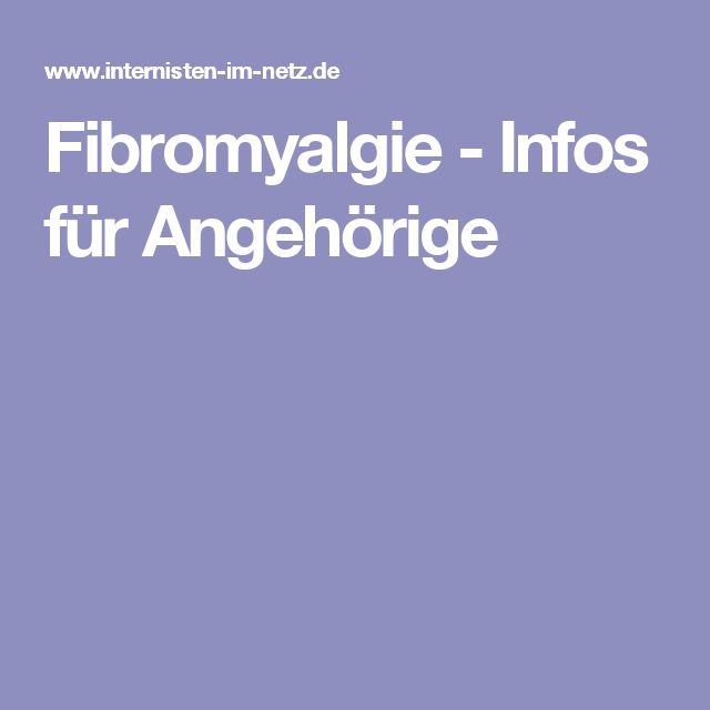 Fibromyalgie - Infos für Angehörige