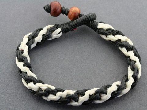 plaited rope bracelet - zebra