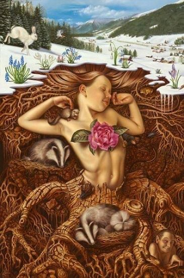 Imbolc symbolizes the coming of spring and takes place on February 1st. It is sacred to the goddess Brigit (Brigid), who is the patroness of poetry, smithcraft, healing, and fertility.