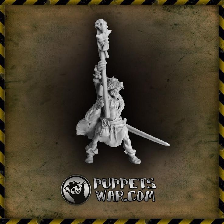 Wielder of nature's forces, wild and savage - Wolf Shaman, the newest release in our range of magic users.  https://puppetswar.eu/product.php?id_product=636