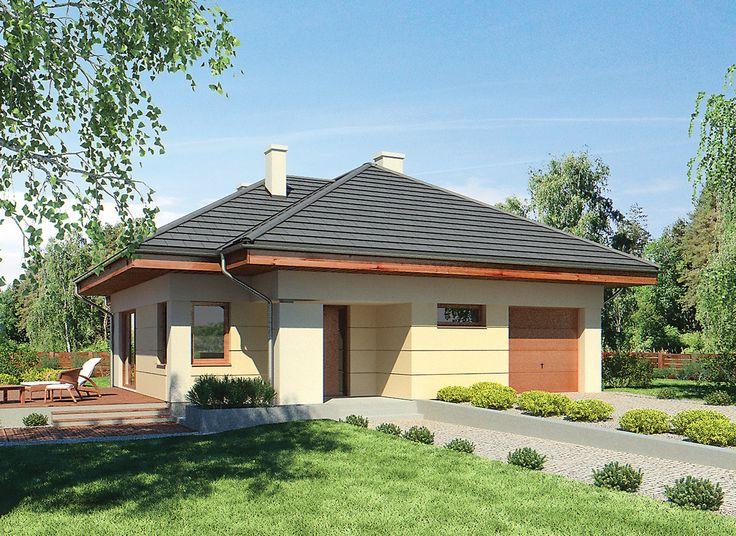 """""""Duże możliwości"""" Murator M202 - idealna propozycja dla dużej rodziny, która ceni sobie wygodę i funkcjonalne rozplanowanie wnętrza. Usytuowanie 4 sypialni i łazienki obok siebie pozwoliło wydzielić zaciszną strefę nocną oddzieloną od reszty domu drzwiami. Sercem domu jest przestronny pokój dzienny, w którym cała rodzina będzie mogła cieszyć się swoim towarzystwem, zjeść obiad oraz przyjąć gości. Klimat ogniska domowego wprowadzi do wnętrza kominek widoczny z każdej części strefy dziennej."""