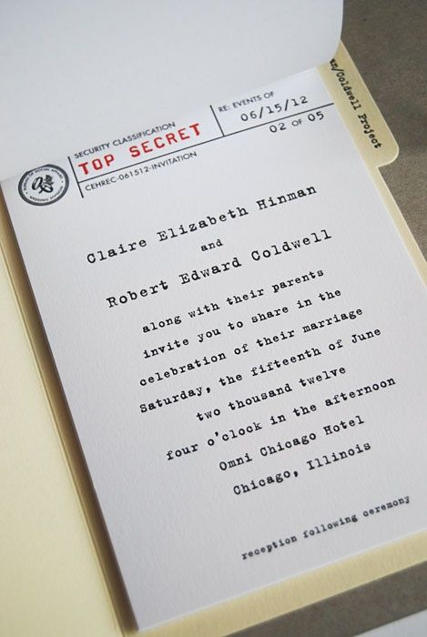 22 best James Bond Wedding Invitations images on Pinterest Bridal