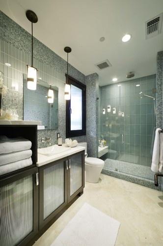 Bathroom contemporary bathroom: Small Bathroom Design, Glasses Tile, Modern Bathroom, Masterbath, Contemporarybathroom, Shower, Bathroom Ideas, Contemporary Bathroom, Master Bathroom