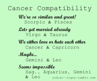 Who Is Cancer Female Most Compatible With