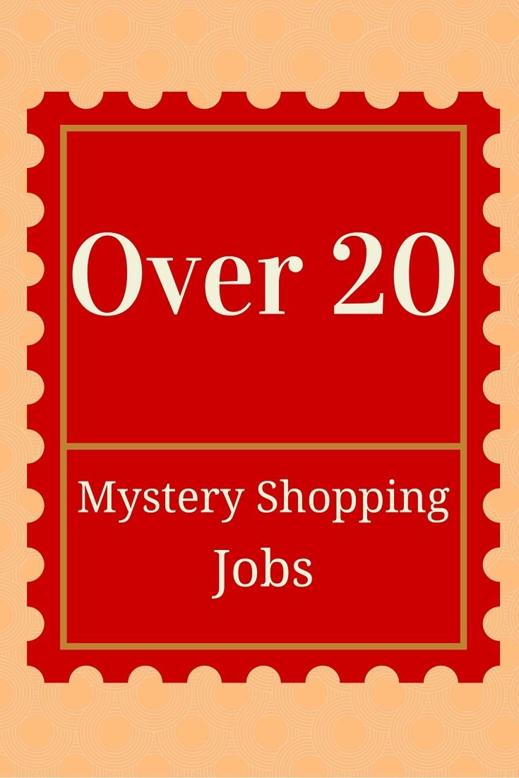 Here's over 20 Mystery Shopping jobs along with phone mystery shopping jobs and apps.   All of these sites are completely legit and scam free!   Get paid to mystery shop now with one of these sites!