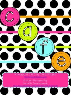 Colorful CAFE Posters & Strategy Cards {Reading Strategies} *Freebie*