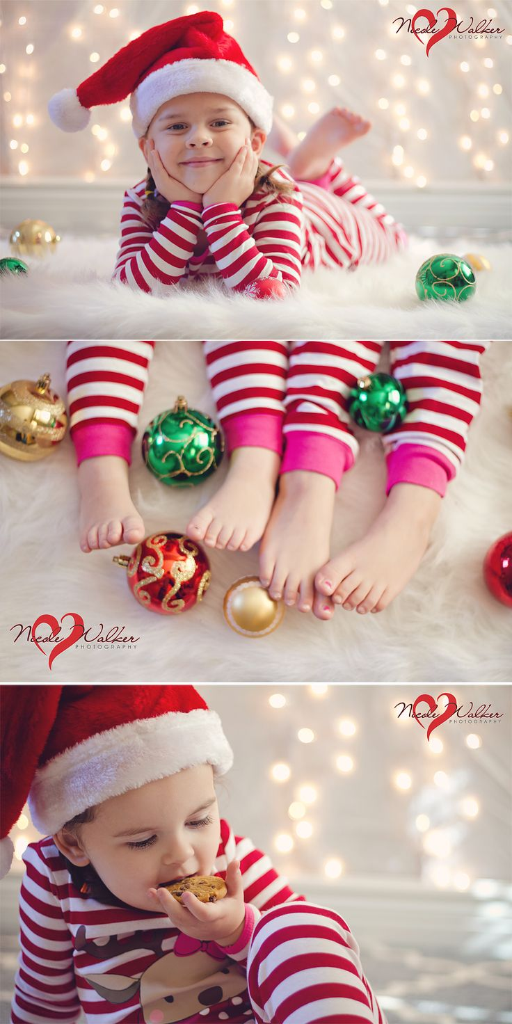 christmas indoor photography set little girls holiday