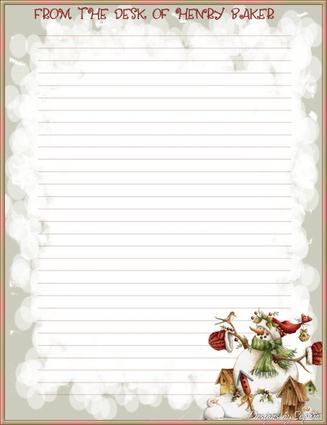 10 Best images about Christmas Stationery – Stationery Paper with Lines