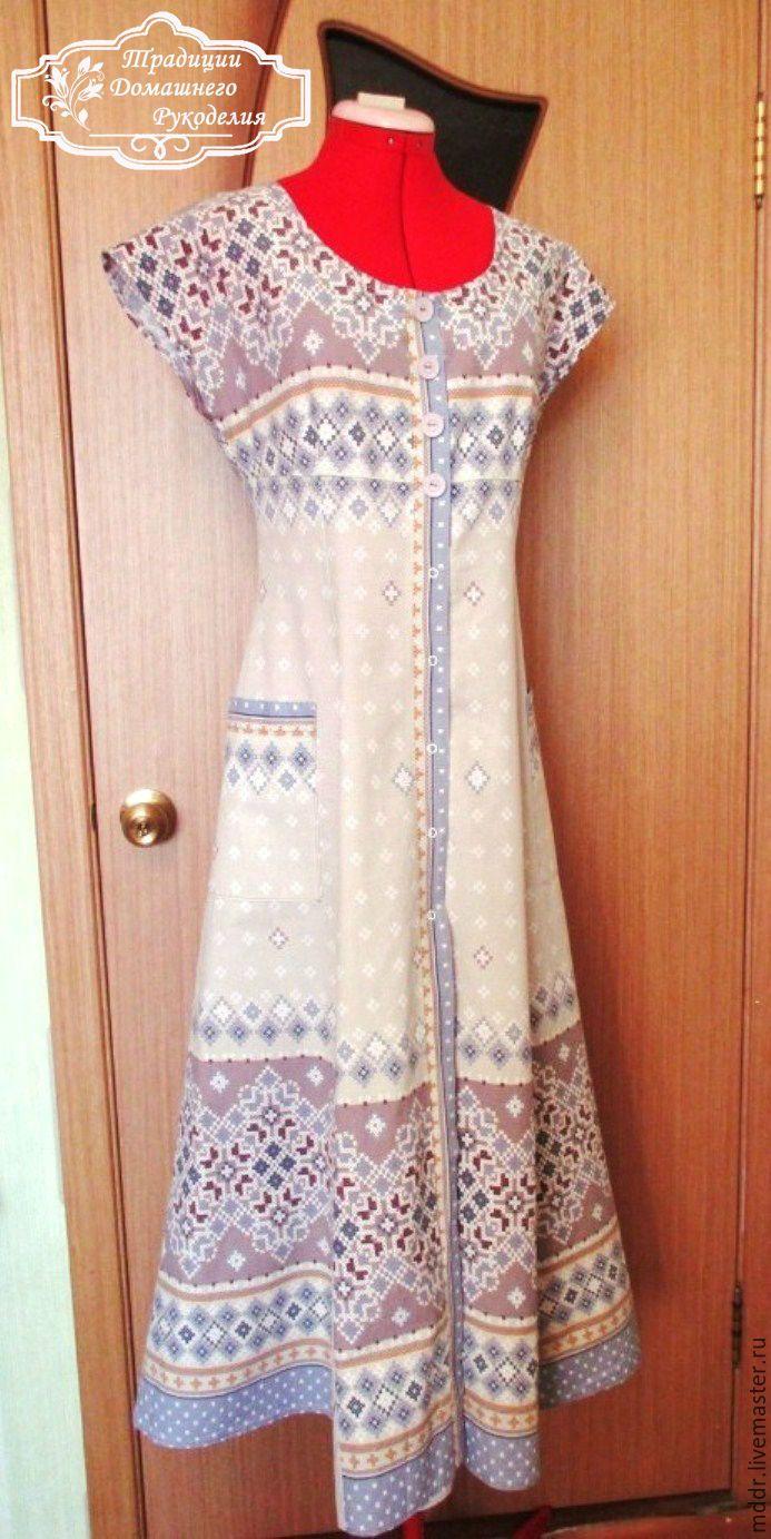 Купить бохо хлопковое платье в пол Любава - шебби, бохо стиль, бохо сарафан
