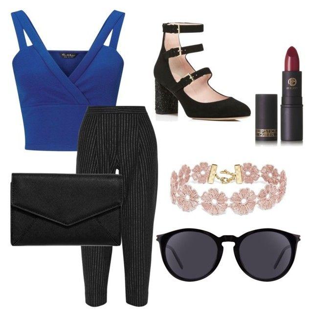 """#29"" by mercedes93 on Polyvore featuring moda, Miss Selfridge, DKNY, Kate Spade, LULUS, Yves Saint Laurent, BaubleBar i Lipstick Queen"