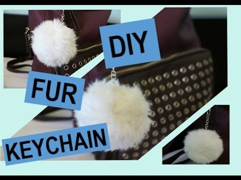 DIY: Fur Keychain - YouTube ❤️ IG: TheHeartShow SC: Beauty_Jasmine Pintrest:HeartBreaker94 ❤️