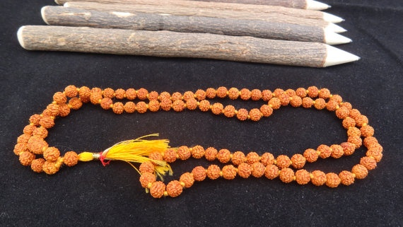 Rudraksha Mala Beads 5 Mukhi Energized Hindu by beadsincredible, $7.99