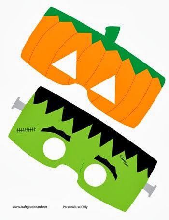 Frankenstein-and-Pumpkin-Masks-by-the-Crafty-Cupboard