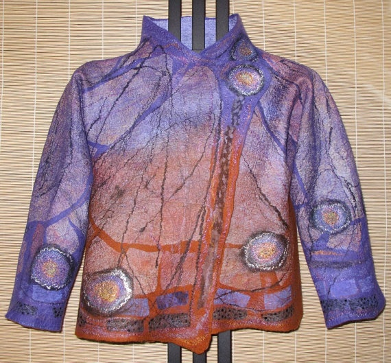 Nuno Felt Butterfly Jacket by MarjolainesTouch