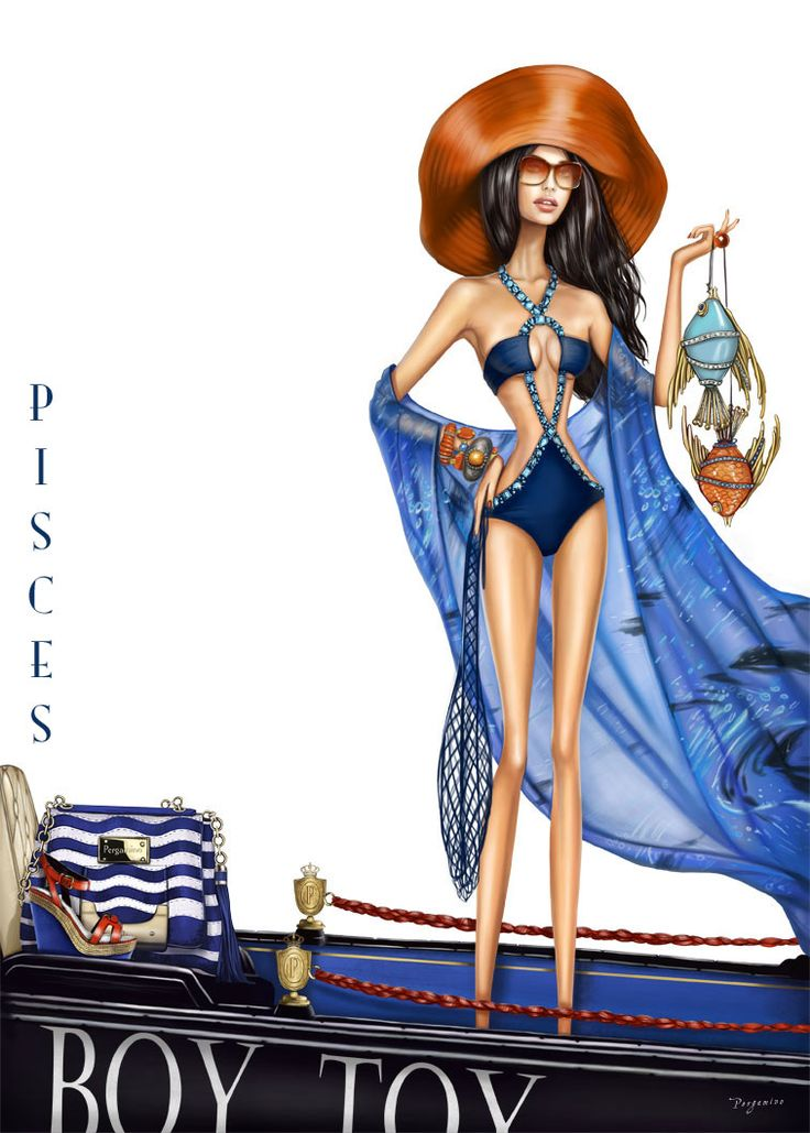 Pisces - Pergamino's artistic and witty birthday card for the girl born between Feb 20 & March 20th.