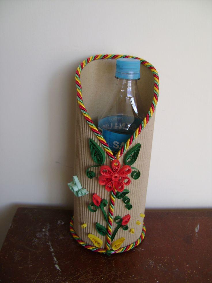 Manualidades con carton carrugado pin porta botellas - Manualidades en carton ...