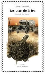 STEINBECK, John Las uvas de la ira  [N STE uva] Distinguida con el Premio Pulitzer en 1940, Las uvas de la ira describe el drama de la emigración de los componentes de la familia Joad, que, obligados por el polvo y la sequía, se ven obligados a abandonar sus tierras, junto con otros miles de personas de Oklahoma y Texas, rumbo a la «tierra prometida» de California. Allí, sin embargo, las expectativas de este ejército de desposeídos no se verán cumplidas.