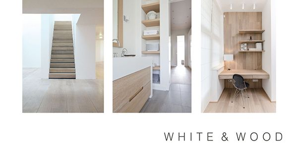 Interior Design option at Cadogan Place.  White & Wood