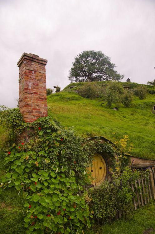 Hobbit hole. I want one of these in my backyard lol
