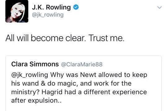 I'm very interested to see how Newt was able to keep his wand after being expelled from Hogwarts.
