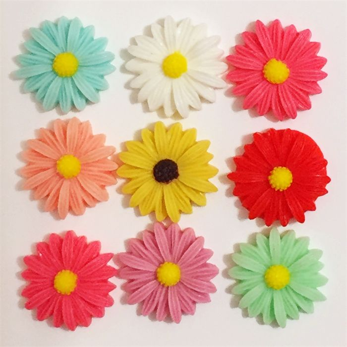 15 Colourful Resin Flowers - Mixed