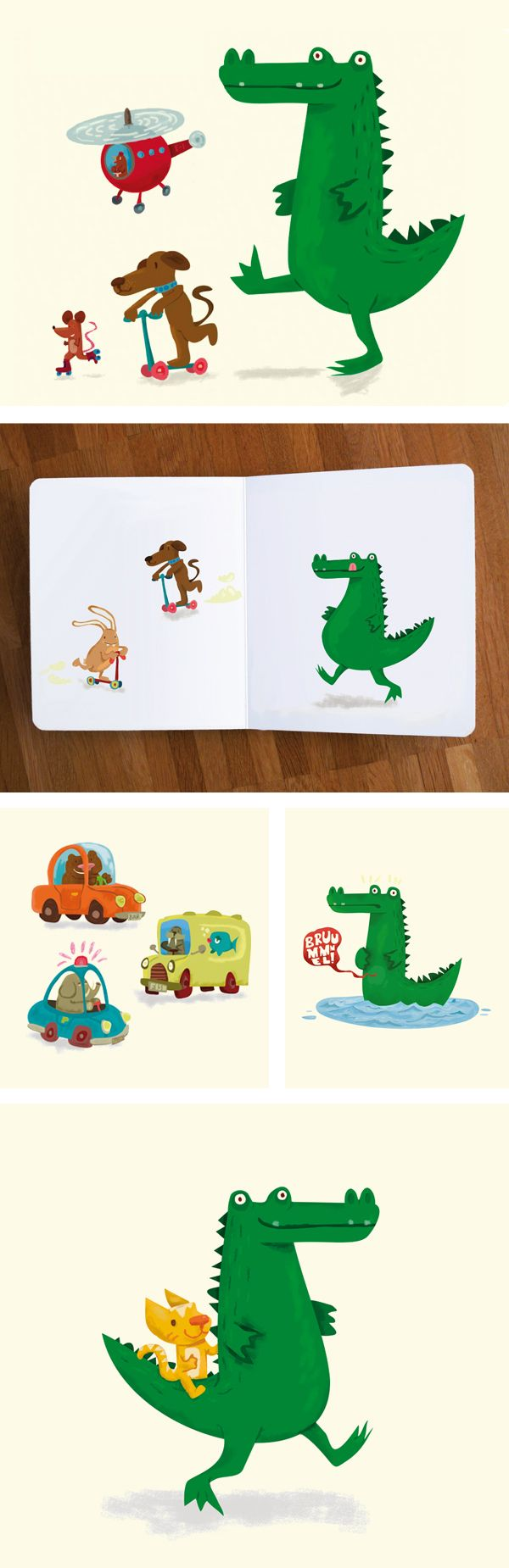 The hungry Crocodile by Jamie Oliver Aspinall, via Behance