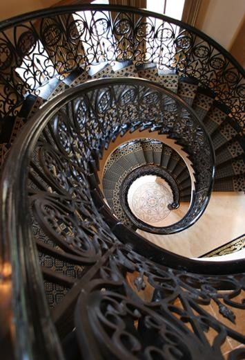 Beautiful wrought iron stunning stairways doors and - Spiral staircase wrought iron ...