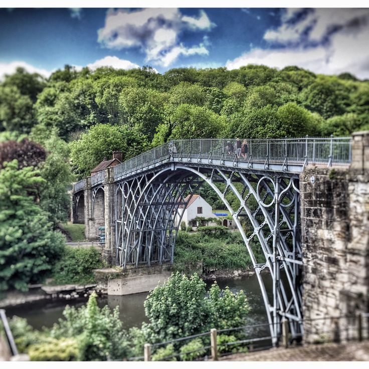 The Iron Bridge in Ironbridge, Telford and Wrekin